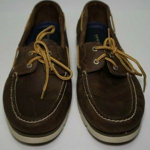 MENS SPERRY TOPSIDER LEATHER SPERRY Brown SIZE 13